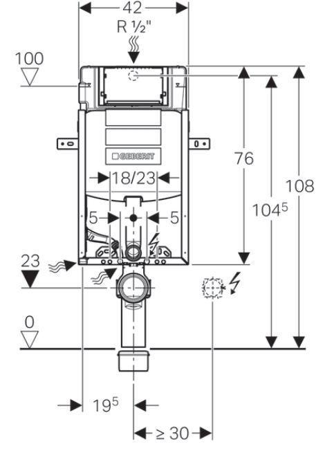 GEBERIT KOMBIFIX ECO, nádržka UP 320 bez ovládacej dosky + WC REA Ivo Rimless + SEDADLO (110.302.00.5 IV1)