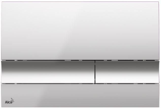 ALCAPLAST Sádromodul - predstenový inštalačný systém s chrómovým tlačidlom M1721 + WC REA Ivo Rimless + SEDADLO (AM101/1120 M1721 IV1)