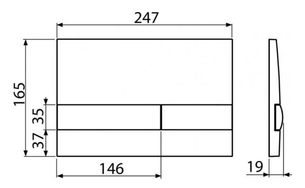 ALCAPLAST  Renovmodul - predstenový inštalačný systém s bielym tlačidlom M1710 + WC REA Ivo Rimless + SEDADLO (AM115/1000 M1710 IV1)