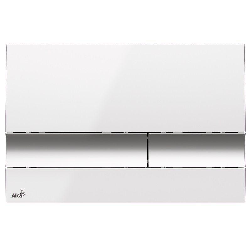 ALCAPLAST  Renovmodul - predstenový inštalačný systém s bielym / chróm tlačidlom M1720-1 + WC REA Ivo Rimless + SEDADLO (AM115/1000 M1720-1 IV1)