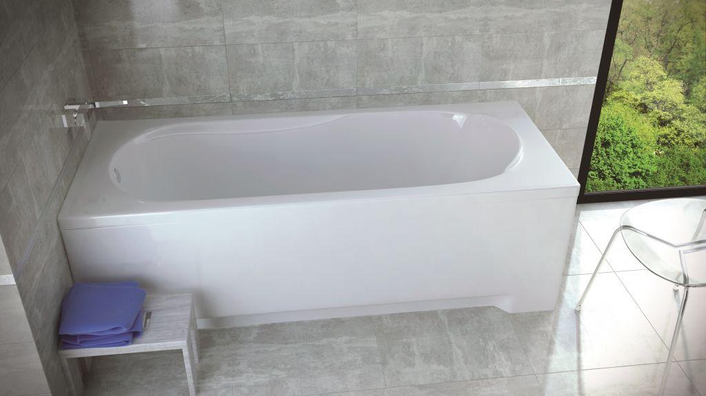 HOPA - Obdĺžniková vaňa Vindobona - Nožičky k vani - Bez nožičiek, Rozmer vane - 180 × 80 cm OLVVIN18
