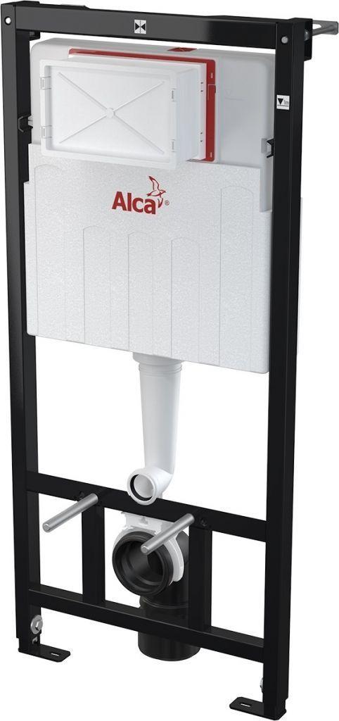 ALCAPLAST Sádromodul - predstenový inštalačný systém s chrómovým tlačidlom M1721 + WC REA Carlo Flat Mini Rimlesss + SEDADLO (AM101/1120 M1721 CF1)
