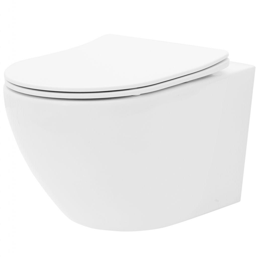 ALCAPLAST Jádromodul - predstenový inštalačný systém s bielym / chróm tlačidlom M1720-1 + WC REA Carlo Flat Mini Rimlesss + SEDADLO (AM102/1120 M1720-1 CF1)