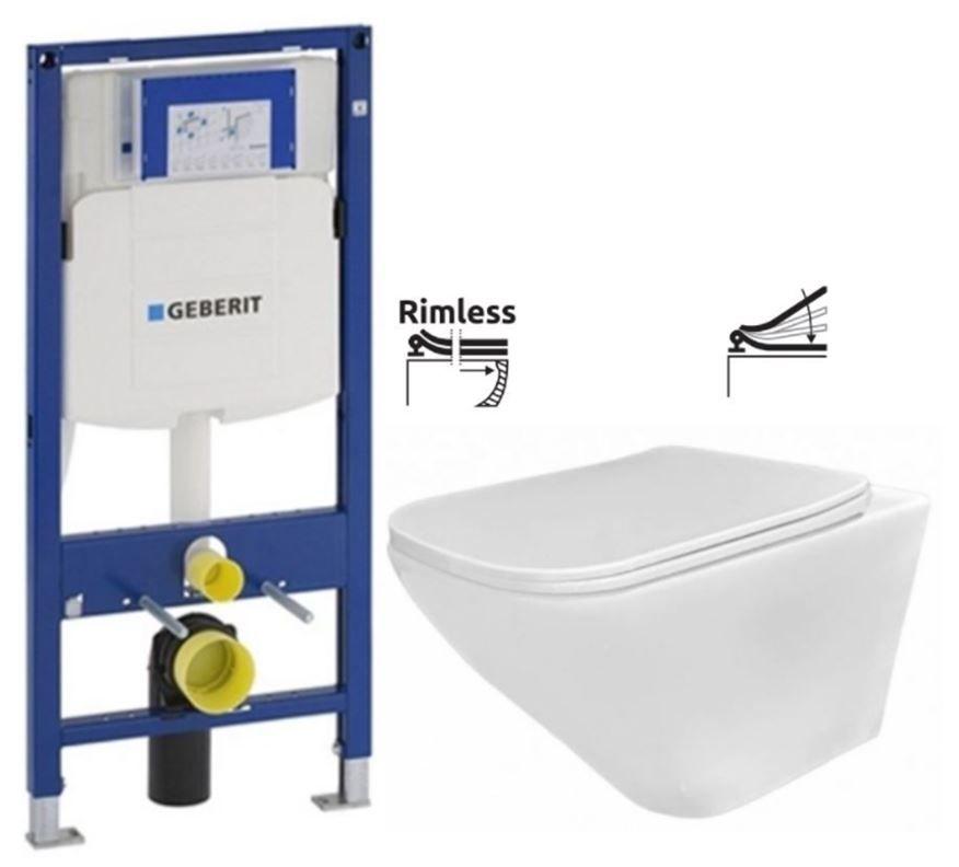 GEBERIT Duofix bez ovládacej dosky + WC REA Ivo Rimless + SEDADLO 111.300.00.5 IV1