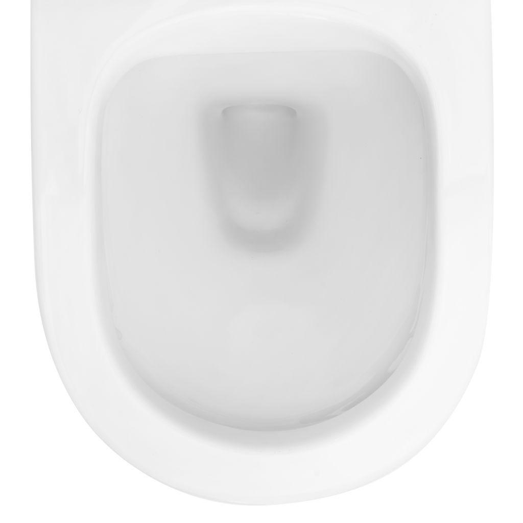 ALCAPLAST  Renovmodul - predstenový inštalačný systém s bielym tlačidlom M1710 + WC REA Carlo Flat Mini Rimlesss + SEDADLO (AM115/1000 M1710 CF1)