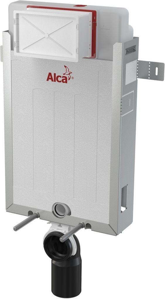 ALCAPLAST  Renovmodul - predstenový inštalačný systém bez tlačidla + WC REA Carlo Flat Mini Rimlesss + SEDADLO (AM115/1000 X CF1)