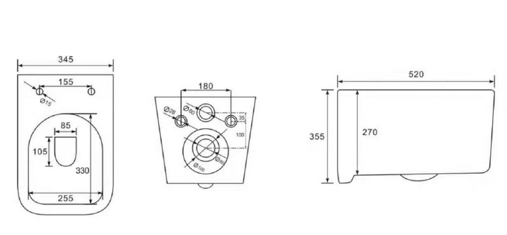 ALCAPLAST  Sádromodul - predstenový inštalačný systém s bielym tlačidlom M1710 + WC REA Tino Rimlesss + SEDADLO (AM101/1120 M1710 TR1)