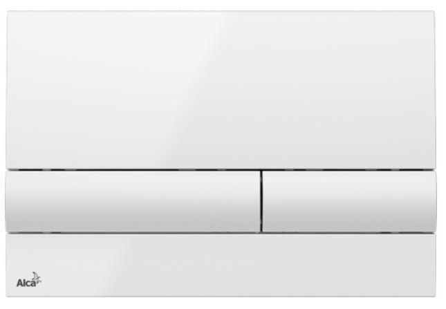 ALCAPLAST  Jádromodul - predstenový inštalačný systém s bielym tlačidlom M1710 + WC REA Tino Rimlesss + SEDADLO (AM102/1120 M1710 TR1)