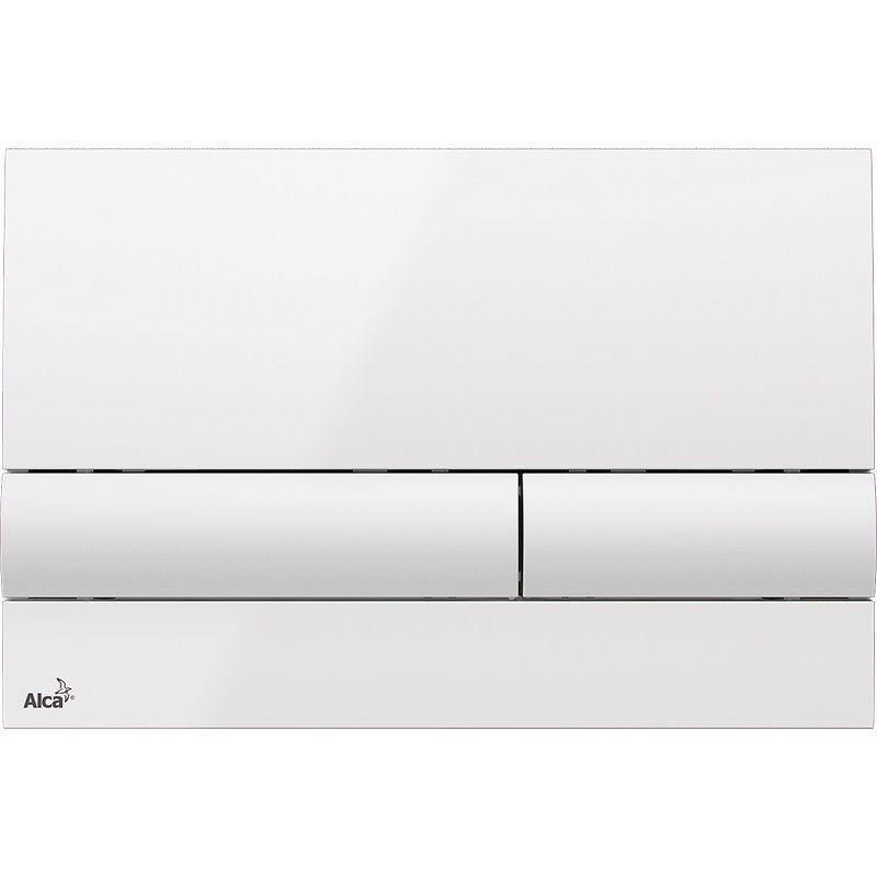 ALCAPLAST  Renovmodul - predstenový inštalačný systém s bielym tlačidlom M1710 + WC REA Tino Rimlesss + SEDADLO (AM115/1000 M1710 TR1)