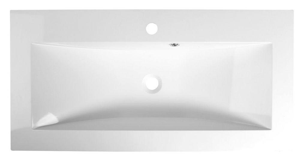 SAPHO - YUKON umývadlo 90x45cm, liaty mramor, biela (55900)