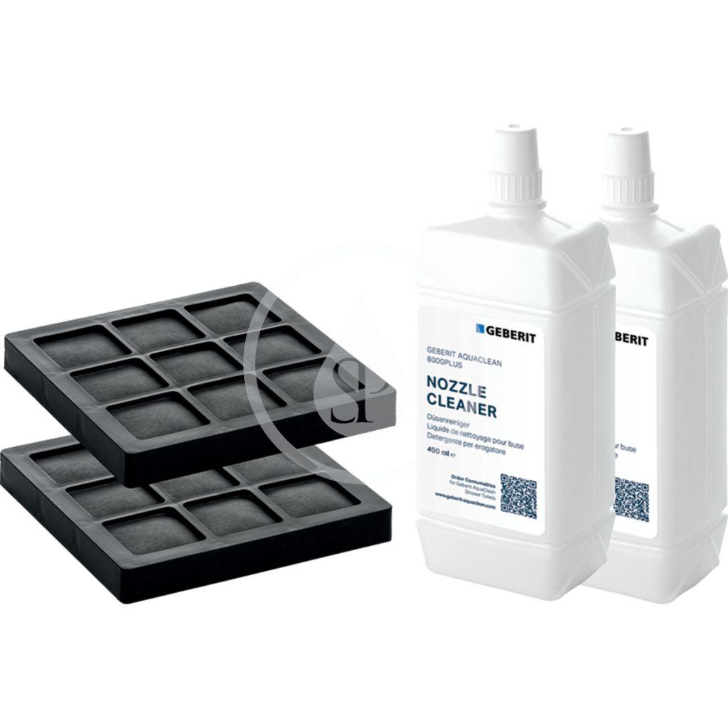GEBERIT - Příslušenství AquaClean súprava filtru s aktívnym uhlím a prostriedku pre čistenie dýzy, balenie 2 ks 240.626.00.1