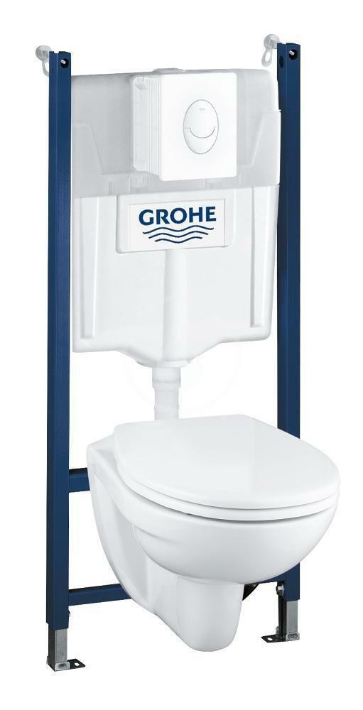 GROHE - Solido Súprava na závesné WC + klozet a doska softclose, tlačidlo Skate Air, biela 39117000