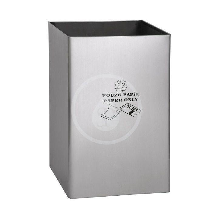 SANELA SANELA - Nerezové odpadkové koše Odpadkový koš 67 l, na papír, matný nerez SLZN 49AB