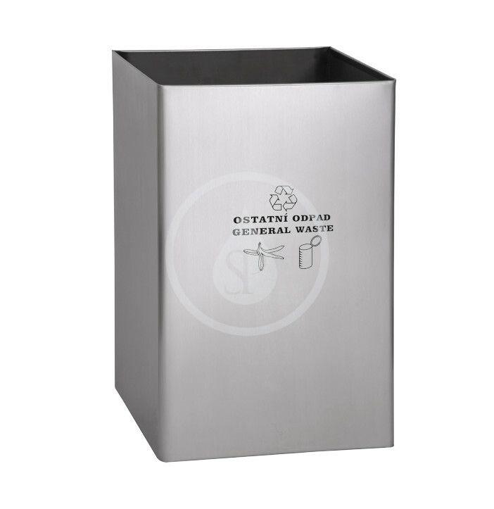 SANELA SANELA - Nerezové odpadkové koše Odpadkový koš 67 l, na ostatní odpad, matný nerez SLZN 49AD