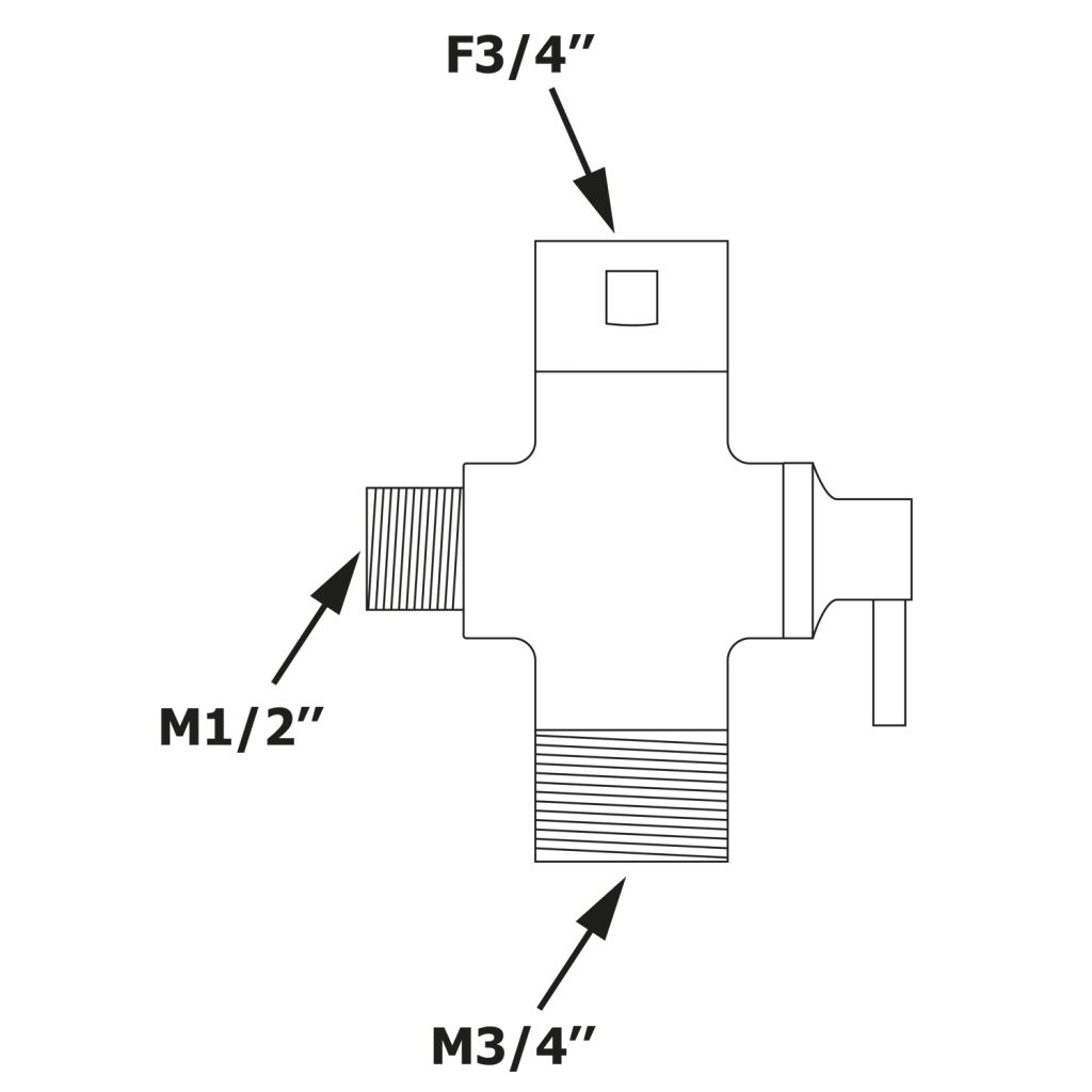 Bruckner - Prepínač pre sprchový stĺp 612.139.1 (612.139.2)
