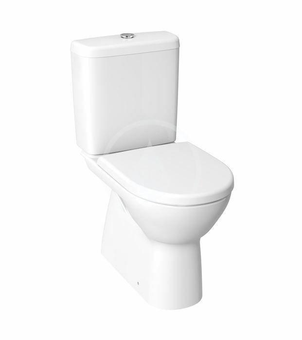 JIKA - Lyra plus WC kombi, spodný odpad, Rimless, biela H8273870002801