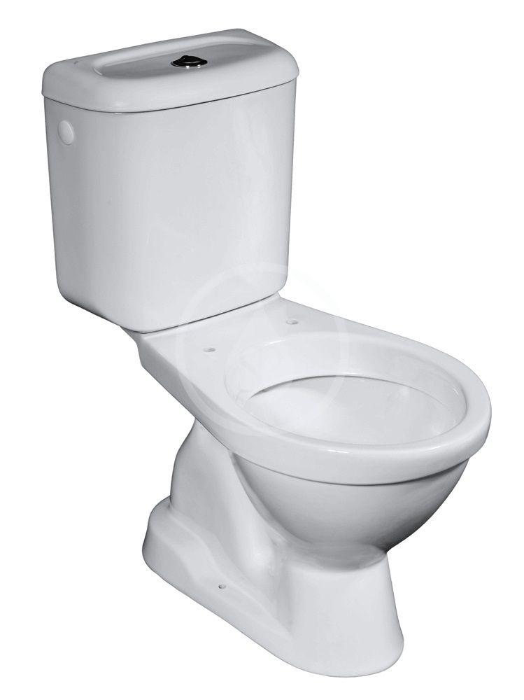 JIKA - Euroline WC kombi vrátane nádržky, bočné napúšťanie, spodný odpad, biela H8602730007873