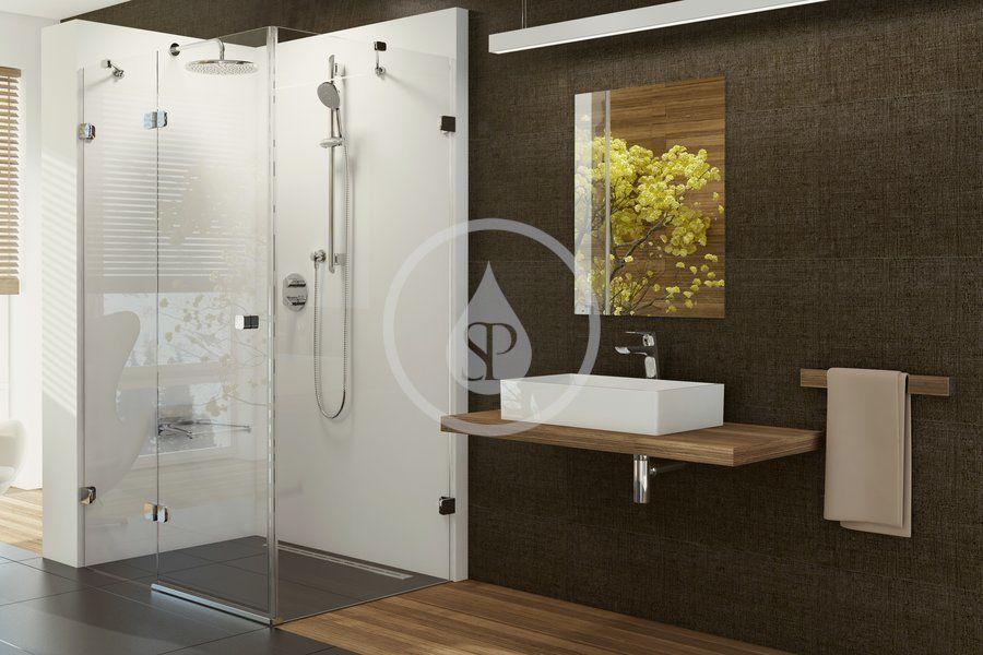 RAVAK - Brilliant Sprchové dvere dvojdielne s pevnou stenou BSDPS-110x80 L, ľavé, 1083 mm – 1095 mm, farba chróm, sklo transparent 0ULD4A00Z1
