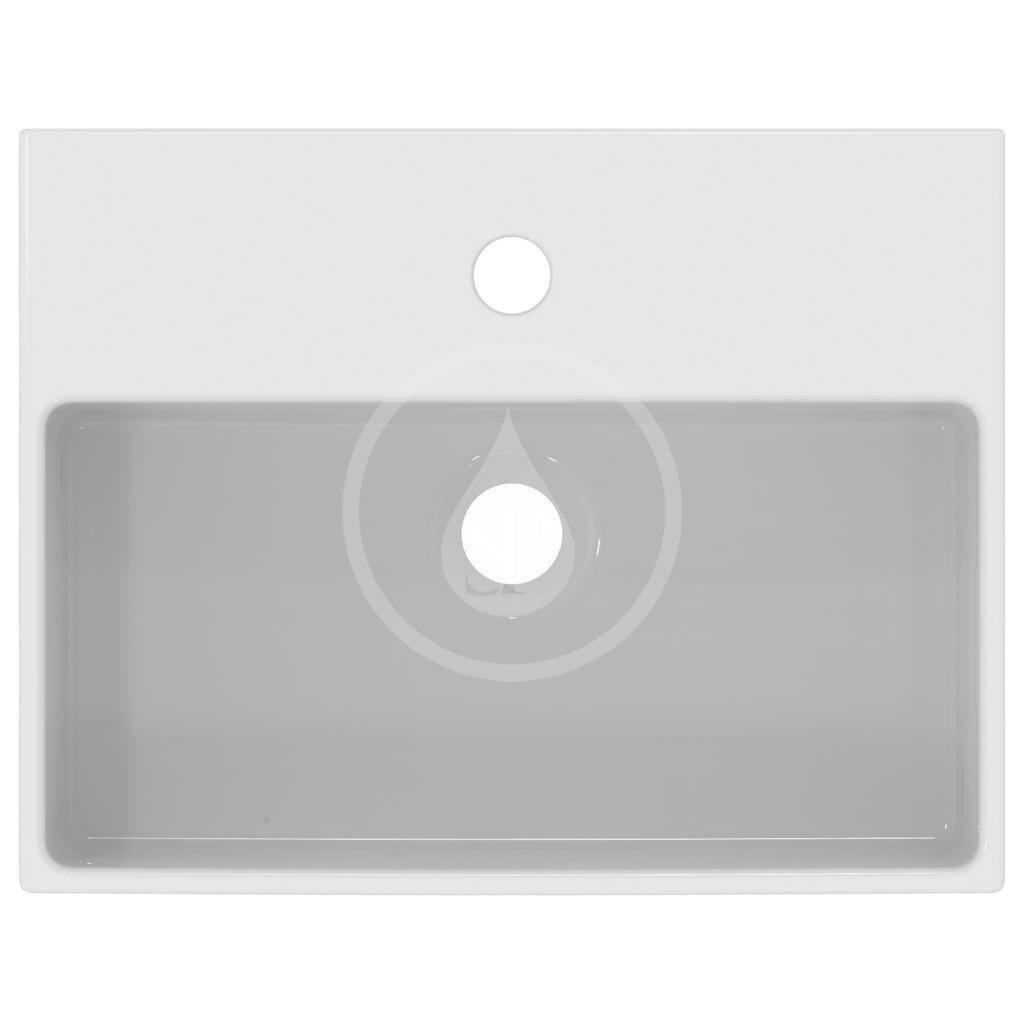 IDEAL STANDARD - Extra Umývadielko na dosku 450x350 mm, s prepadom, otvor na batériu, biela (T391701)