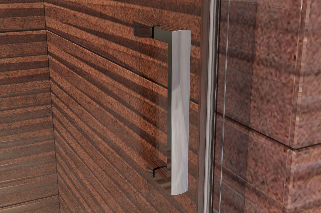 Aquatek - YES B5 115 sprchové dvere jednokrídlové s pevnou stenou 112-116 cm, varianta pravá, výplň sklo - číre (YESB5115-126)