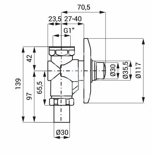 SANELA - Příslušenství Samozatvárací splachovač WC pod omietku, chróm (SLT 161W)