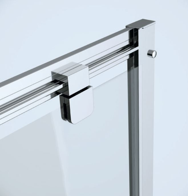 CERSANIT - Sprchové dvere ARTECO 90x190, kývne, číre sklo (S157-008) 2.jakost