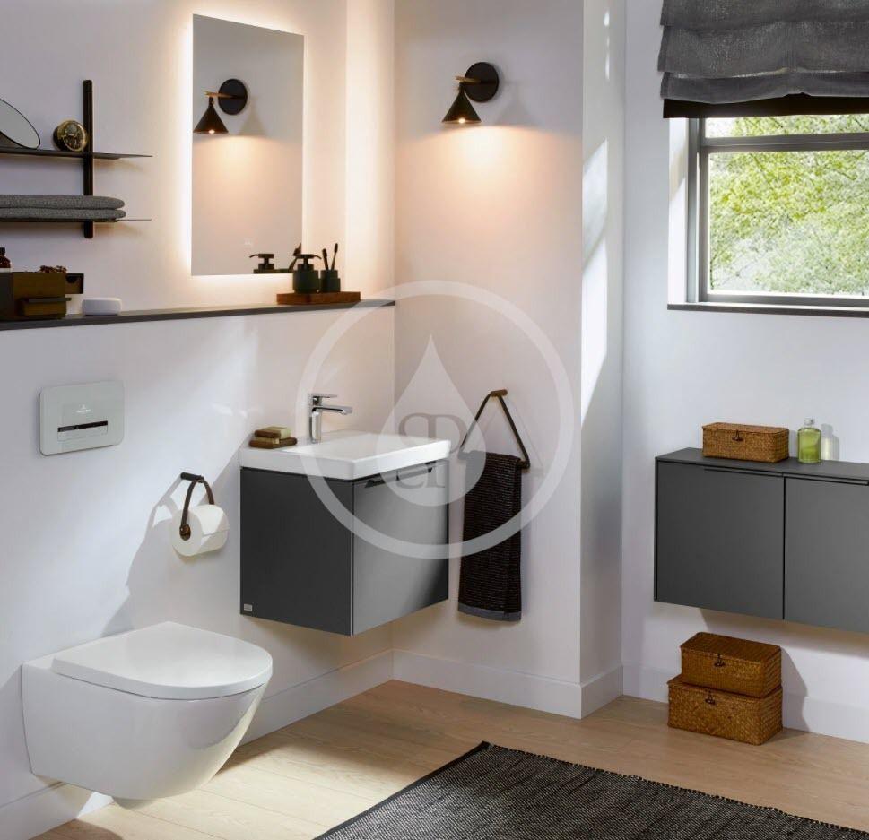 VILLEROY & BOCH - Subway 3.0 Umývadielko nábytkové 500x400 mm, bez prepadu, otvor na batériu, CeramicPlus, alpská biela (4370FGR1)