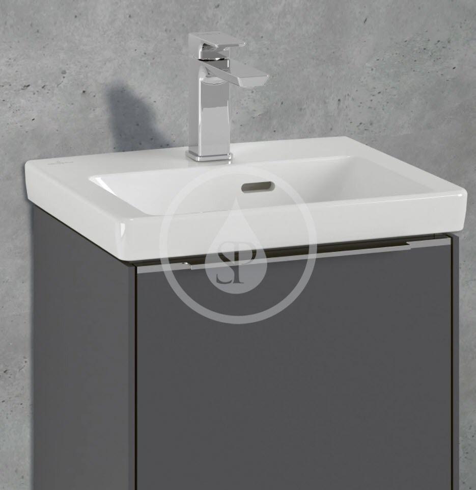 VILLEROY & BOCH - Subway 3.0 Umývadielko nábytkové 450x370 mm, s prepadom, otvor na batériu, CeramicPlus, alpská biela (4370FKR1)