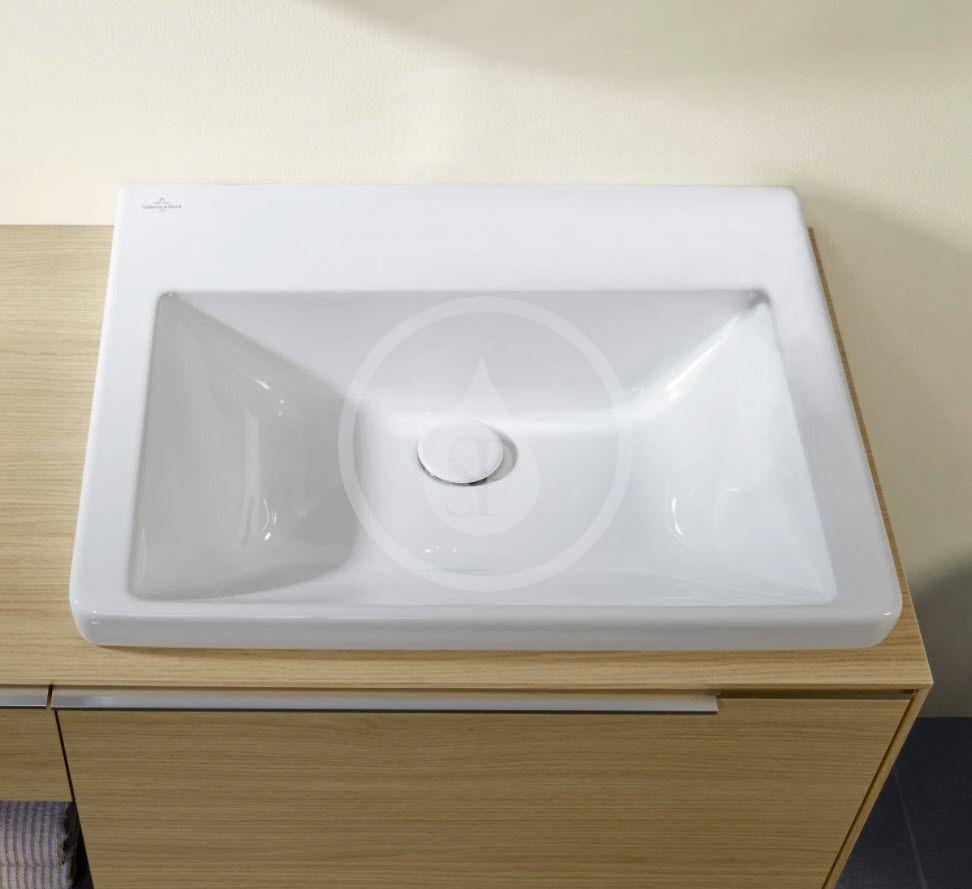 VILLEROY & BOCH - Subway 3.0 Umývadlo nábytkové 600x470 mm, bez prepadu, bez otvoru na batériu, CeramicPlus, alpská biela (4A706FR1)