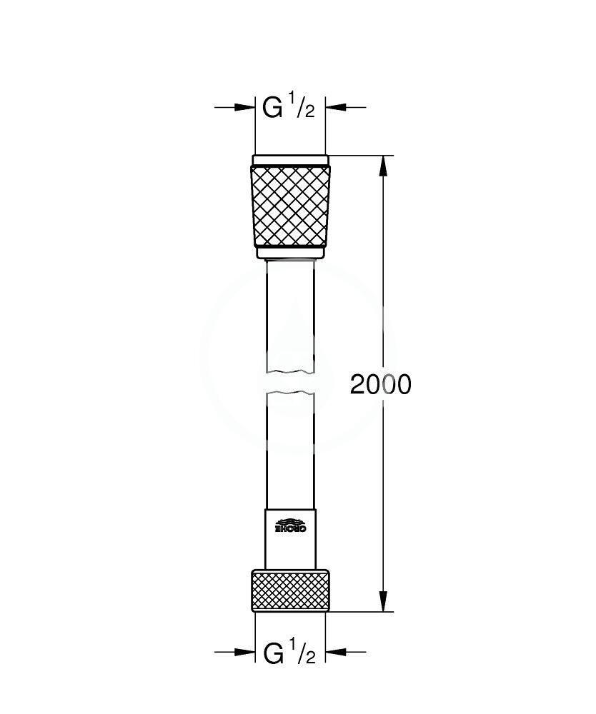 GROHE - Hadice Sprchová hadica VitalioFlex Trend 2000 mm, chróm (27173001)