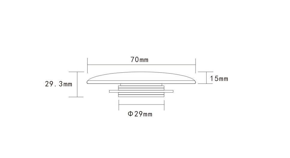 HOPA - Umývadlová výpust click-clack bez prepadu CHROM (OLKLT90A)