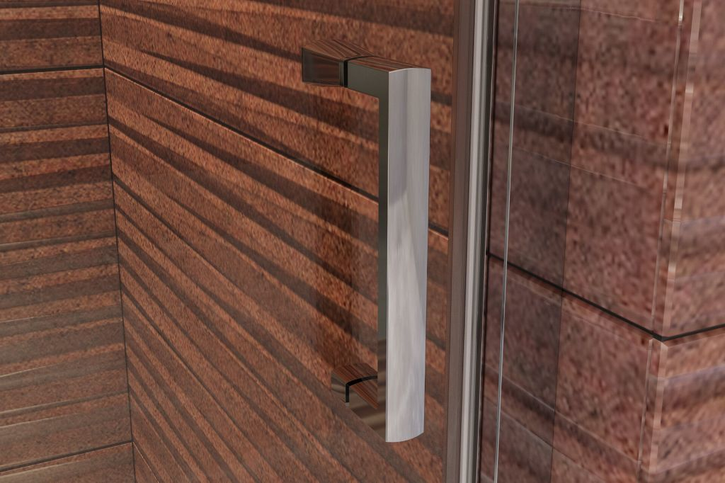 Aquatek - YES B5 90 sprchové dvere jednokrídlové s pevnou stenou 87-91 cm, varianta pravá, výplň sklo - grape (YESB590-129)