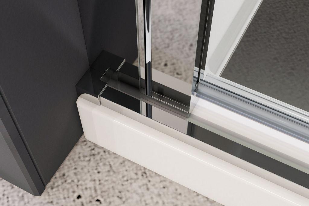 Aquatek - YES B2 80 sprchové dvere do niky dvojkrídlové 77-81cm, výplň sklo - číre (YESB280-06)