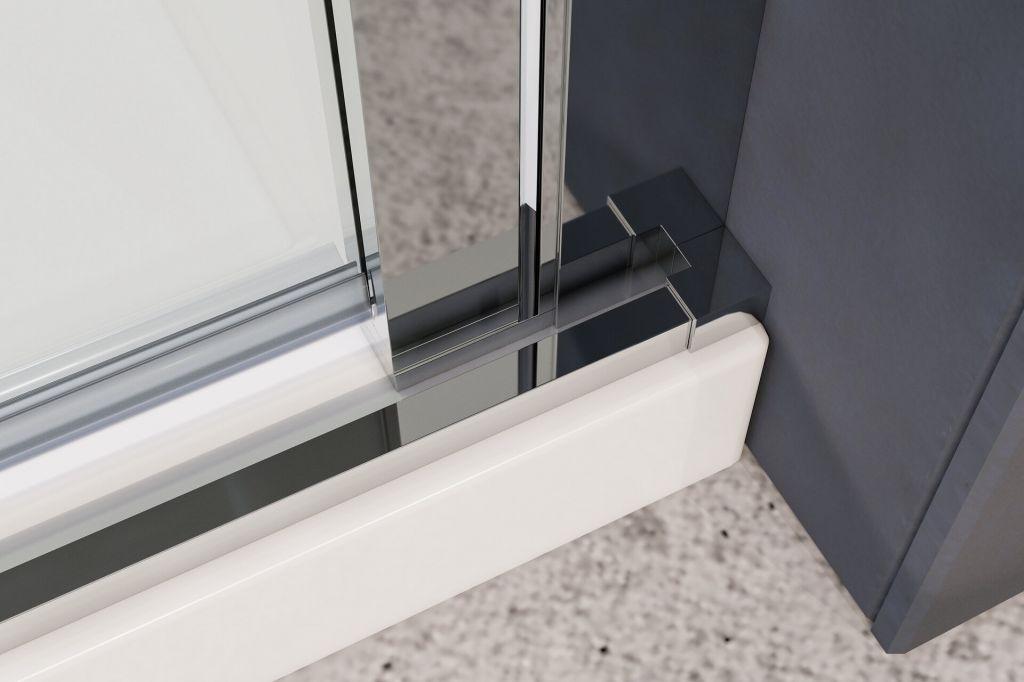 Aquatek - YES B2 85 sprchové dvere do niky dvojkrídlové 82-86cm, výplň sklo - číre (YESB285-06)