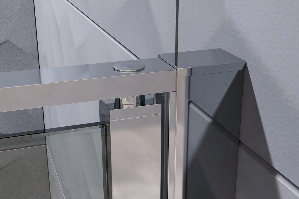 Aquatek - YES B2 95 sprchové dvere do niky dvojkrídlové 92-96cm, výplň sklo - grape (YESB295-19)