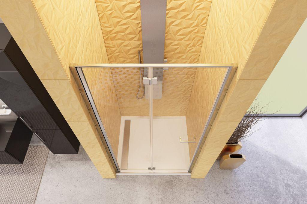 Aquatek - YES B8 85 sprchové dvere do niky zalamovacie 82-86cm, výplň sklo - grape (YESB885-19)