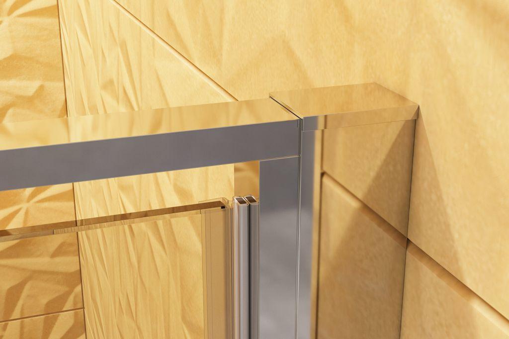 Aquatek - YES B8 95 sprchové dvere do niky zalamovacie 92-96cm, výplň sklo - číre (YESB895-06)