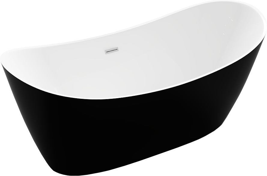 Montana voľne stojaca vaňa 150 x 75 cm biela / čierna 52011507575