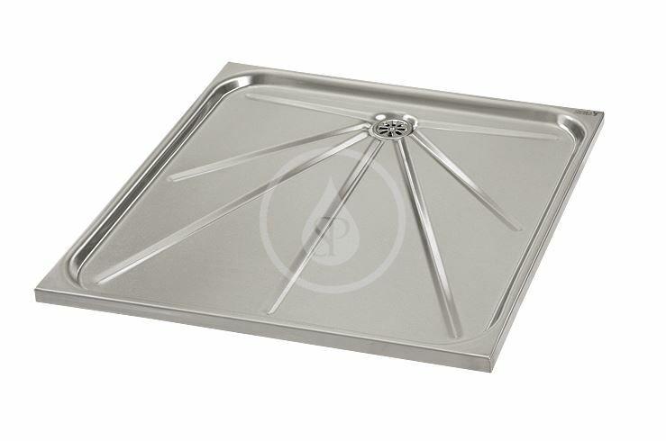 SANELA - Nerezové sprchy Sprchová vanička z nehrdzavejúcej ocele SLSN 06
