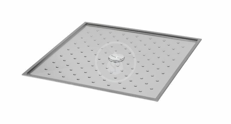 SANELA - Nerezové sprchy Sprchová vanička z nehrdzavejúcej ocele, 900x900x15 mm SLSN 08