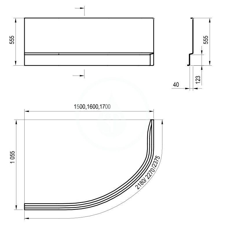 RAVAK - Vanové panely Čelný panel A 150 L k vani Rosa II, 1500 mm, ľavý, biela (CZK1200AN0)