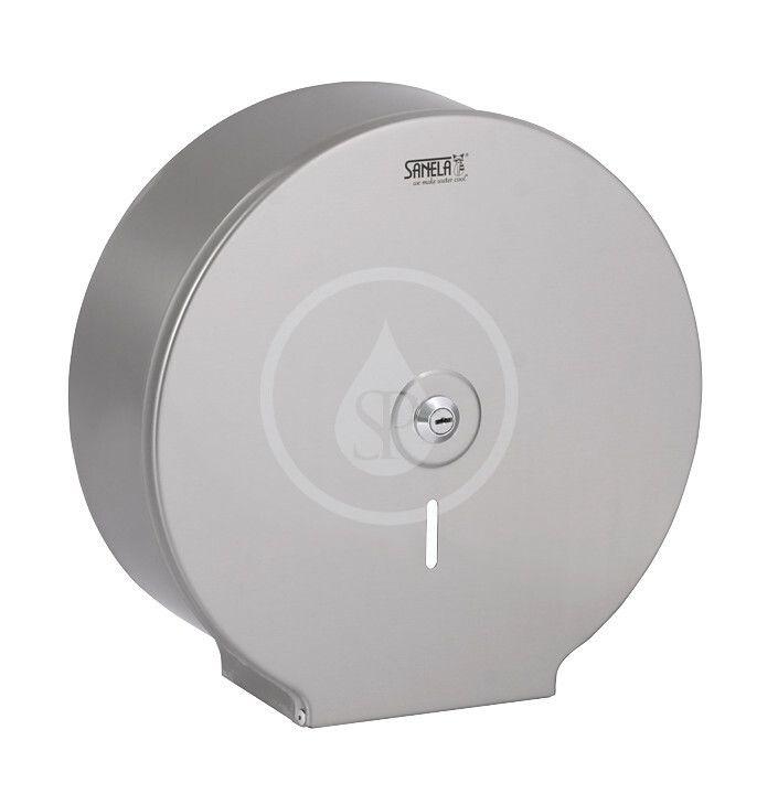 SANELA - Nerezové doplňky Zásobník na toaletný papier, matná nerezová SLZN 37X