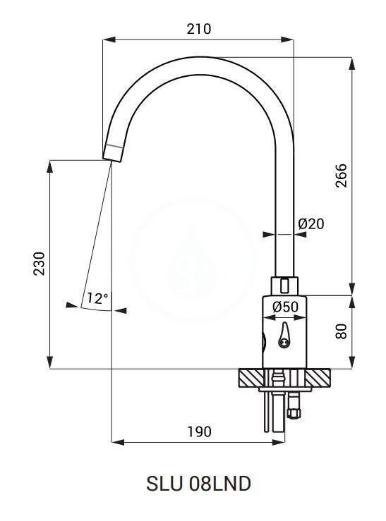 SANELA - Senzorové baterie Elektronická umývadlová batéria, napájanie z batérie, čierna (SLU 08LNDB)