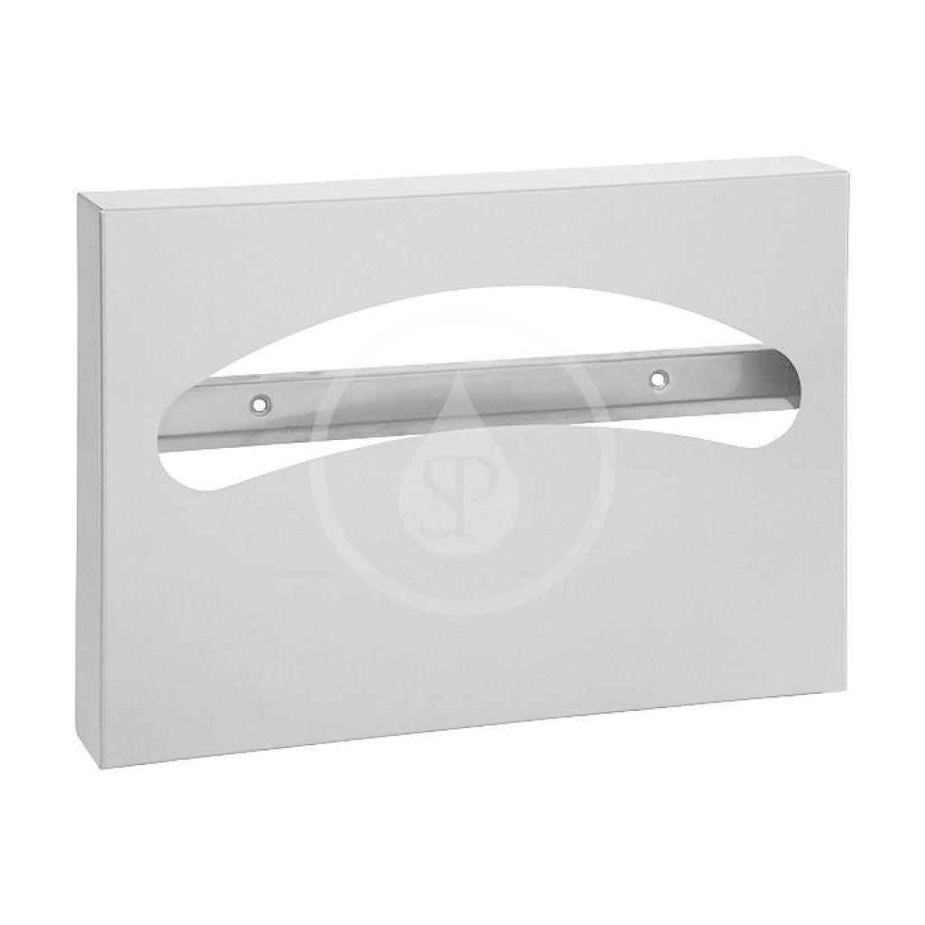 SANELA - Nerezové doplňky Nerezový zásobník papírových podložek na WC sedátka, povrch matný SLZN 66