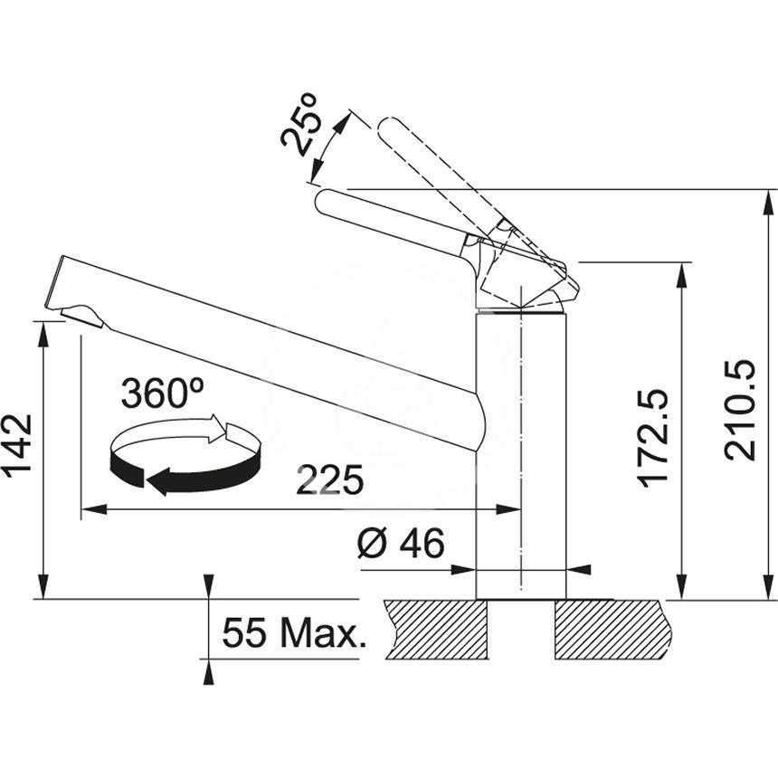 FRANKE - Sety Set N84, nerezový drez SRX 611-86 LB a batéria FC 3054.031, nerezová/chróm (101.0650.599)