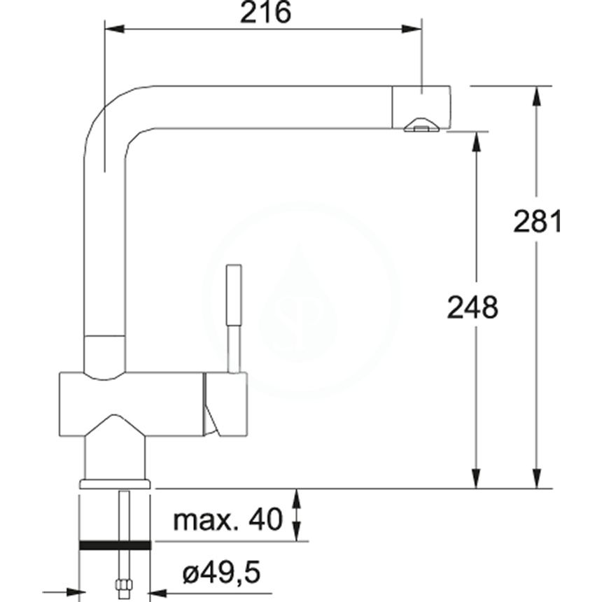 FRANKE - Sety Set G7, fragranitový drez MRG 611-62 a batéria Samoa, matná čierna/chróm (114.0650.568)