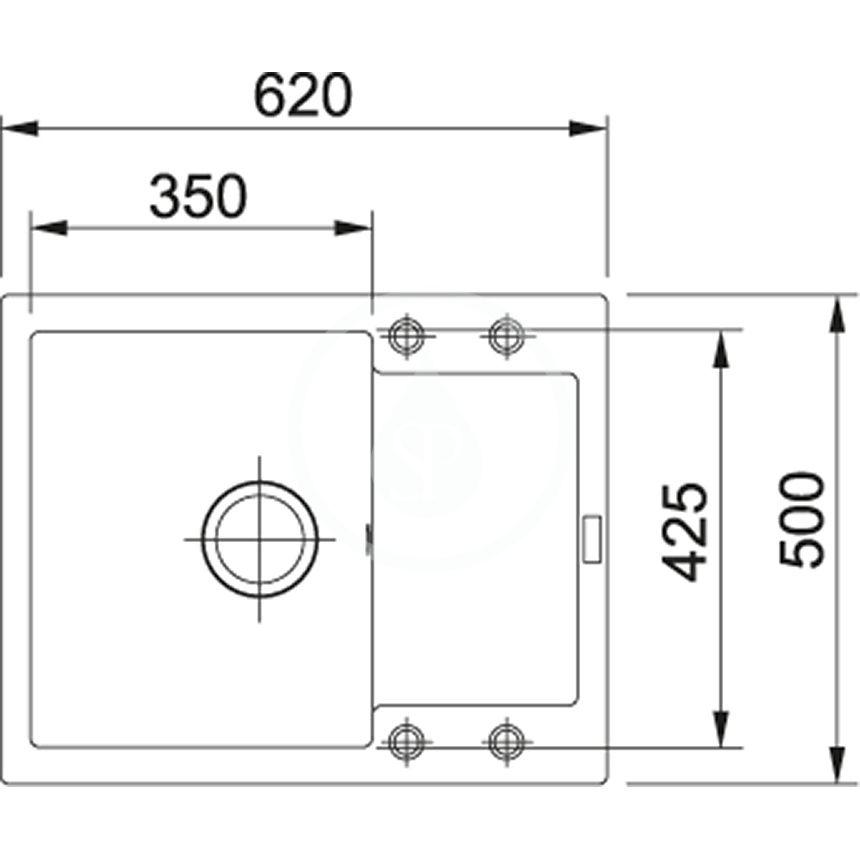 FRANKE - Sety Set G8, fragranitový drez MRG 611-62 a batéria FN 0147.031, matná čierna/chróm (114.0650.569)