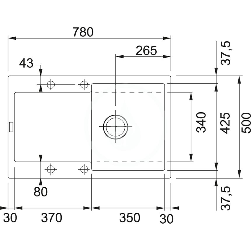 FRANKE - Sety Set G39, fragranitový drez MRG 611 a batéria Samoa, matná čierna/chróm (114.0650.571)
