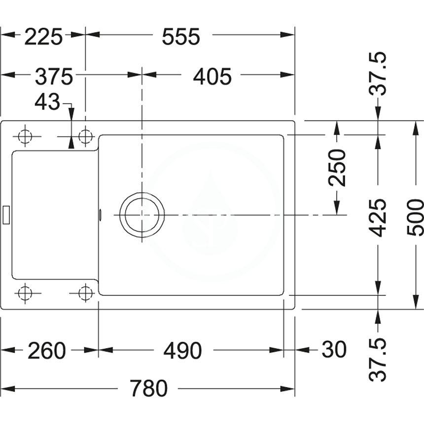 FRANKE - Sety Set G75, fragranitový drez MRG 611-78 BB2 a batéria Samoa, matná čierna/chróm (114.0650.574)