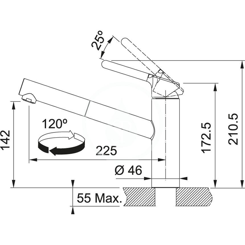FRANKE - Sety Set G187, fragranitový drez BFG 611-62 a batéria FC 3055.031, sahara/chróm (114.0650.582)